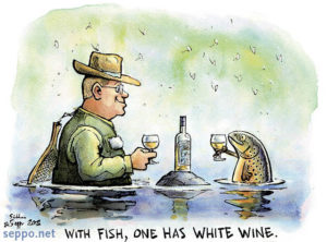 White wine with fish